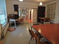 Het atelier.
